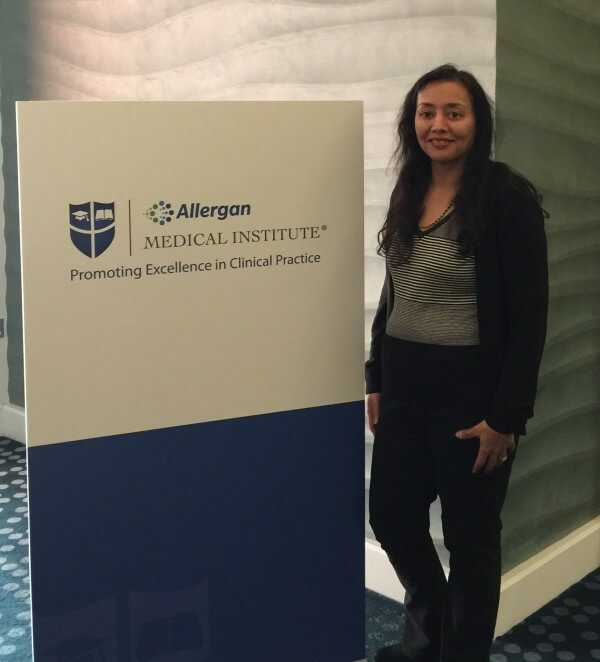 Dr Rekha Tailor attending Allergan's MD Codes Visionary Conference so that patients can recieve outstanding natural looking results at health + aesthetics, Farnham, Surrey