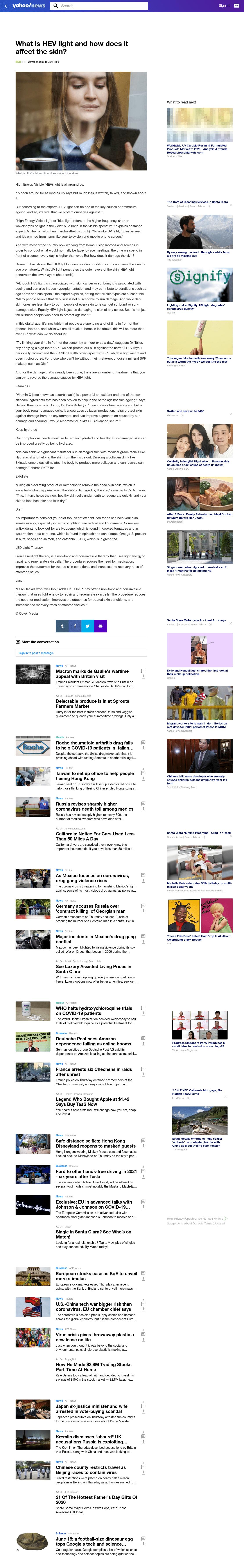 Yahoo News - June 2020