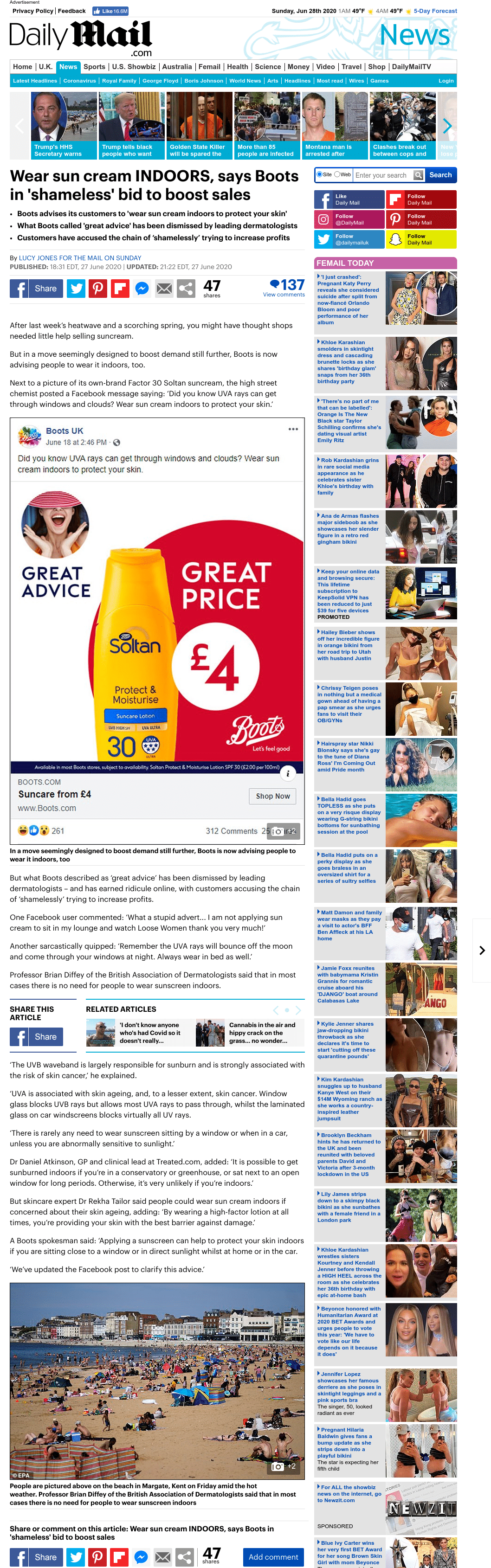 Daily Mail - June 2020