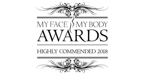 2017-2018 Best Clinic Team Highly Commended (My Face My Body Awards)