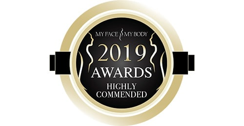 2019 Highly Commended: Best Clinic in the UK, (My Face My Body Awards)