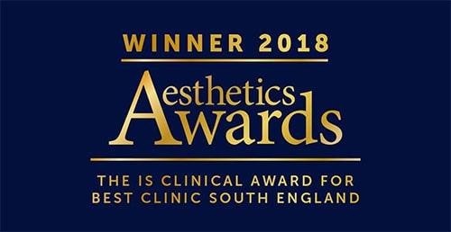 2018 Best Clinic South England Winner (Aesthetic Awards)