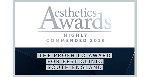 2019 Highly Commended: Best Clinic South England (Aesthetic Awards)