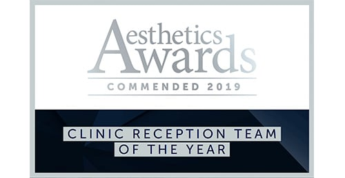 2019 Commended: Clinic Reception Team of the Year (Aesthetic Awards)